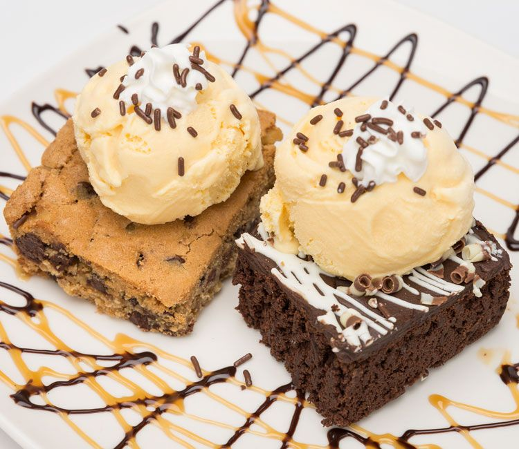 Larry's Brownies with Ice Cream on Top